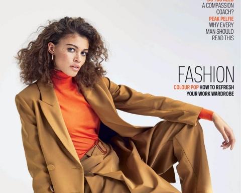 Danielle Lashley covers The Sunday Times Style December 17th, 2017 by Mattias Bjorklund