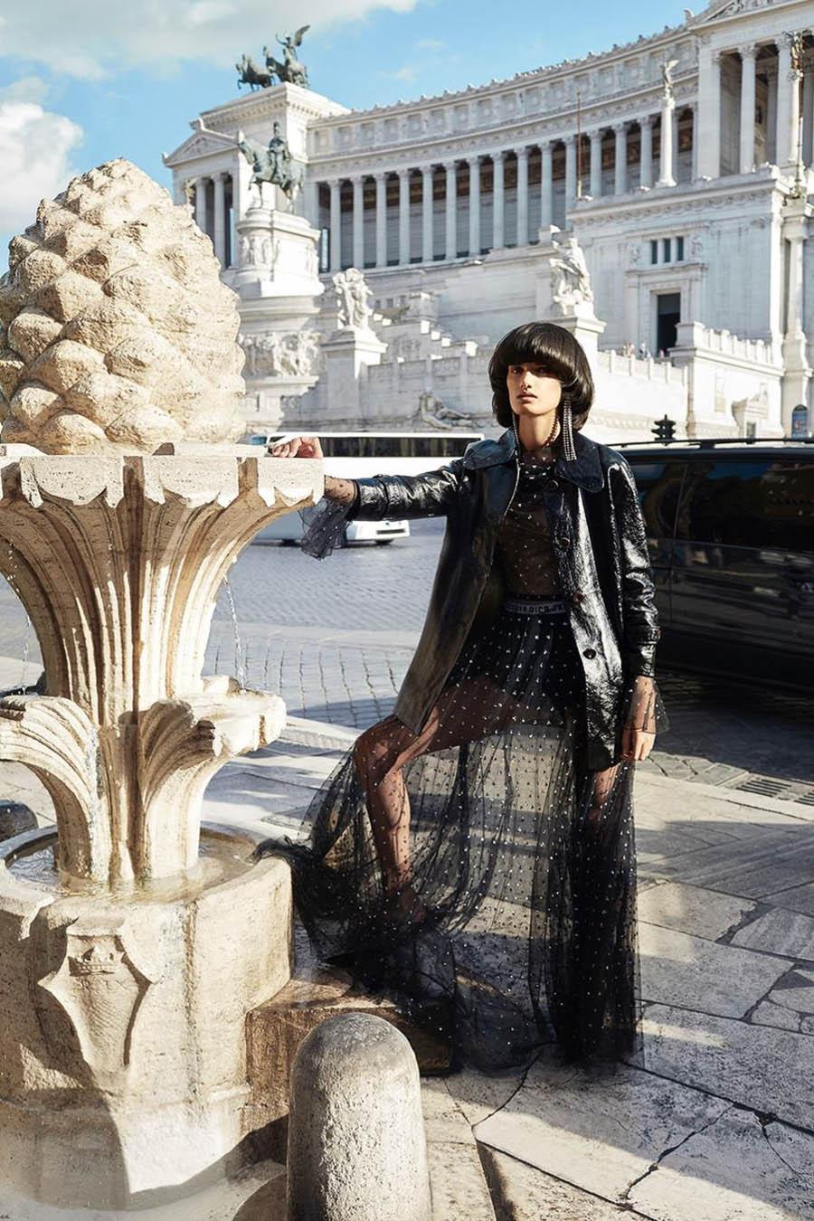 Dipti Sharma by Agata Pospieszynska for Harper's Bazaar Russia December 2017
