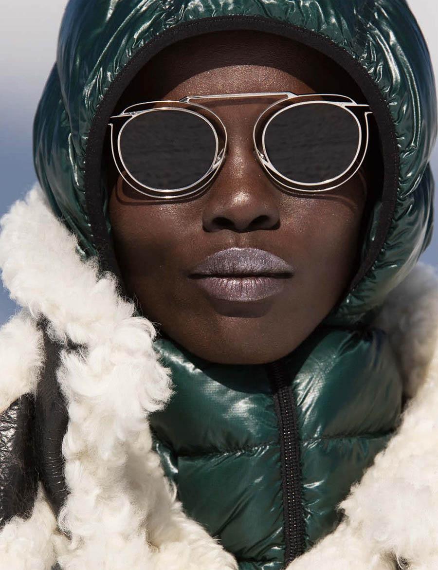 Grace Bol by Hans Feurer for Vogue Germany December 2017