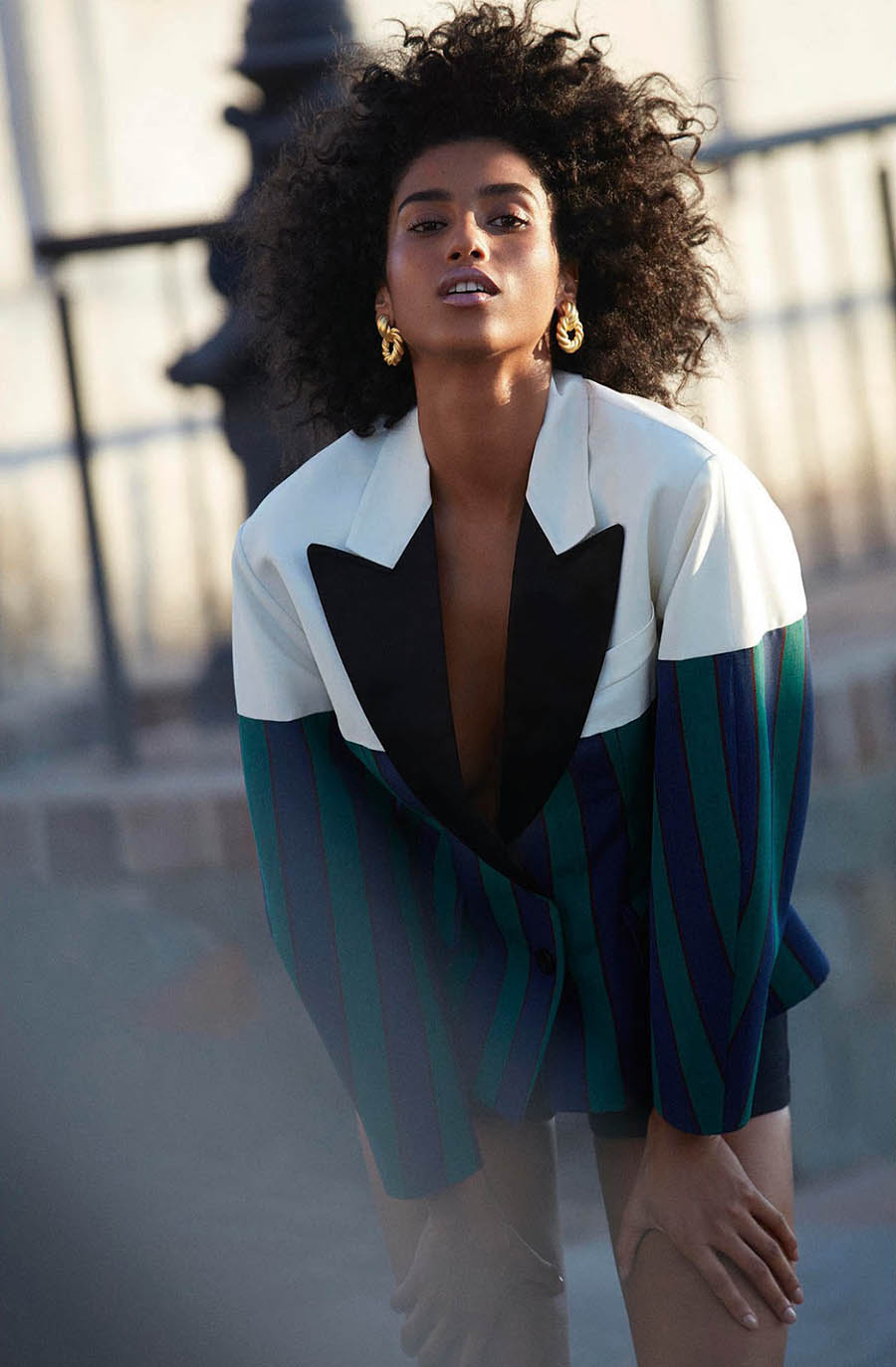 Imaan Hammam covers Porter Magazine Winter Escape 2017 by Camilla Akrans