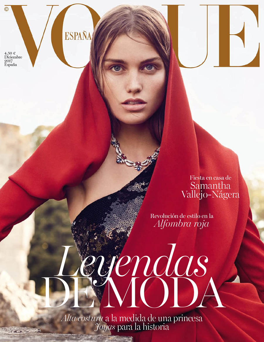 Luna Bijl covers Vogue Spain December 2017 by Nathaniel Goldberg