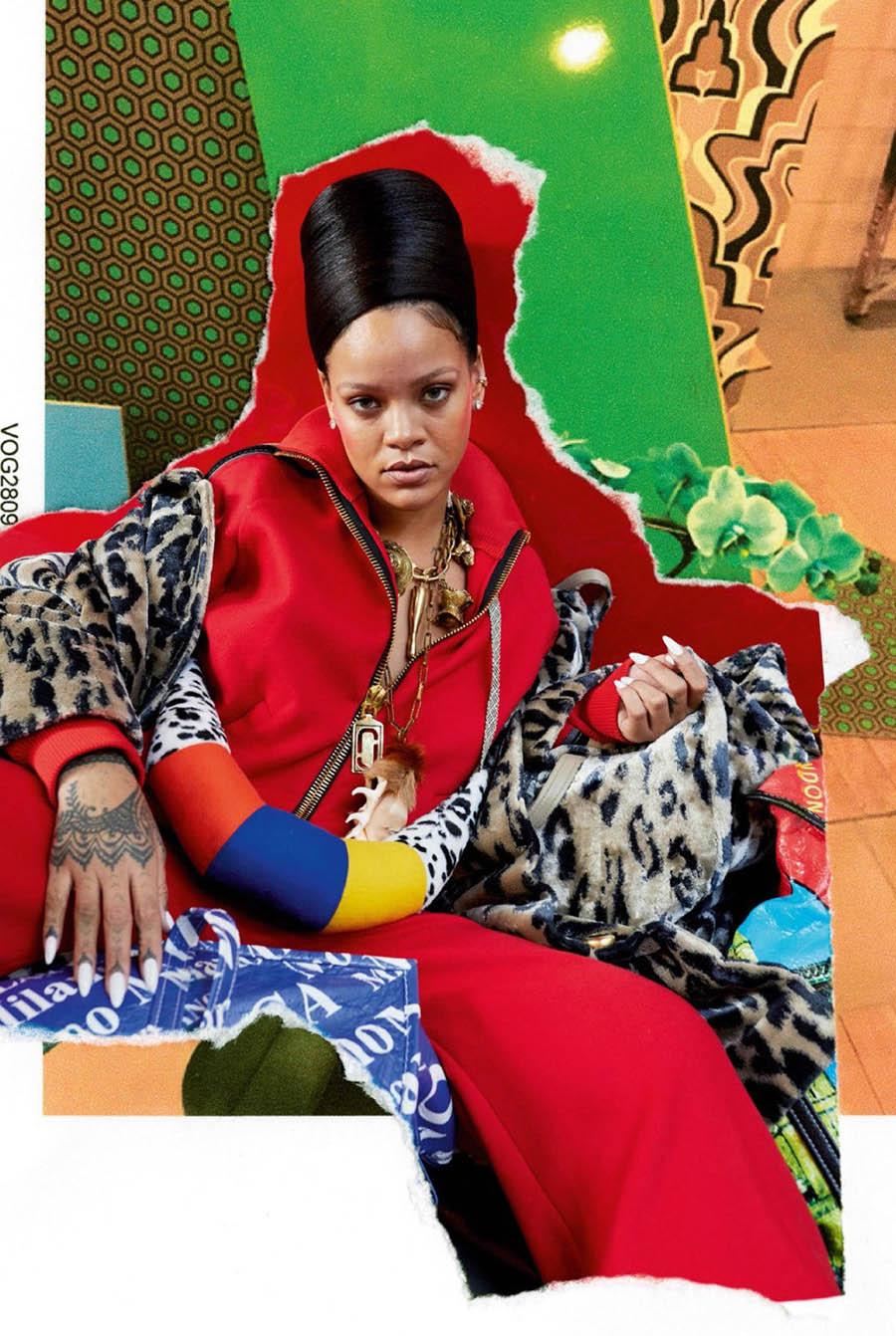 Rihanna covers Vogue Paris December 2017
