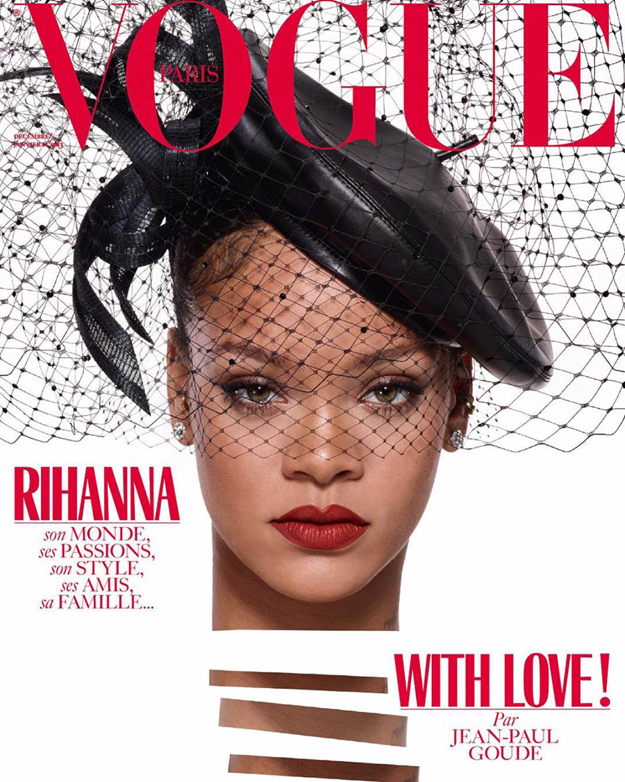 Rihanna covers Vogue Paris December 2017