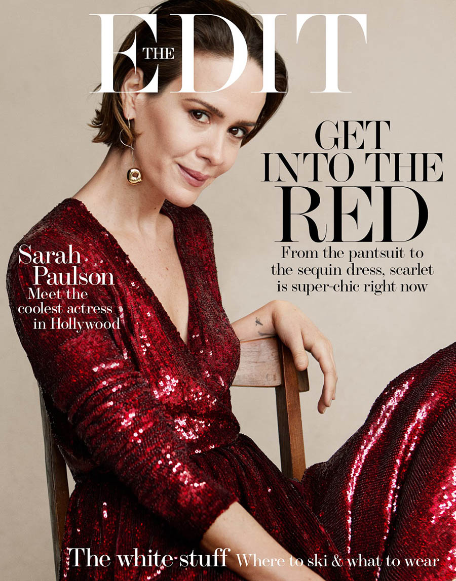 Sarah Paulson covers The Edit December 7th, 2017 by Victor Demarchelier