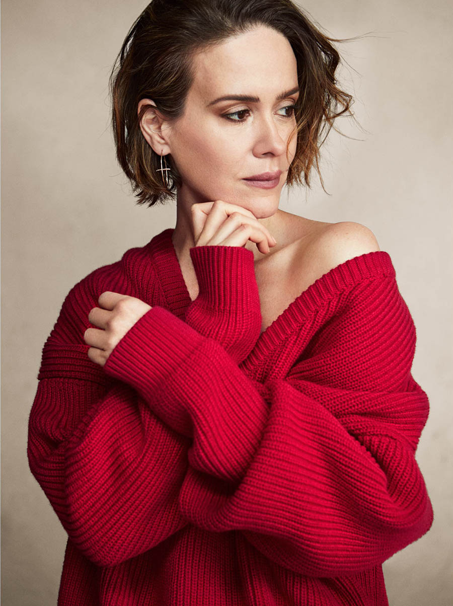 Sarah Paulson Covers The Edit December 7th 2017 By Victor
