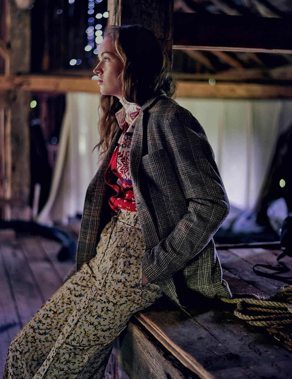 Adrienne Jüliger by Drew Jarrett for Elle Italia January 2018