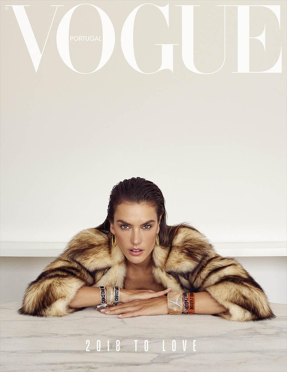 Alessandra Ambrosio covers Vogue Portugal January 2018 by Branislav Simoncik