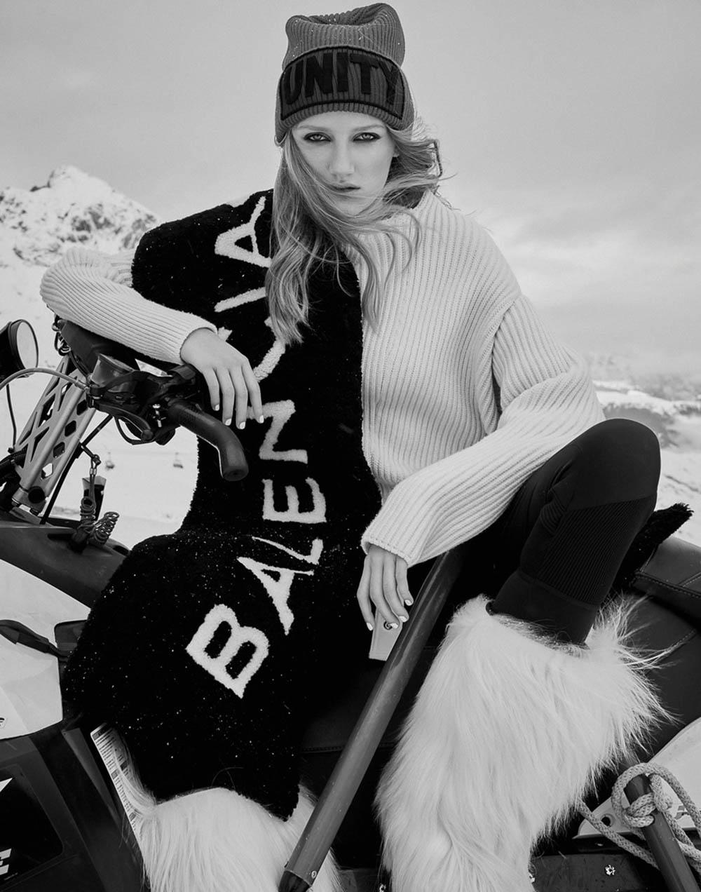 Anna Konecna covers Harper's Bazaar Czech January 2018 by Andreas Ortner