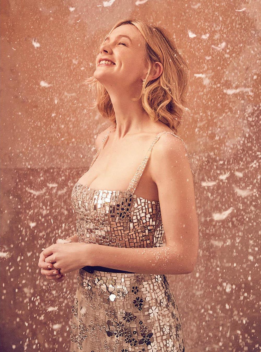 Carey Mulligan covers Harper's Bazaar UK January 2018 by Richard Phibbs