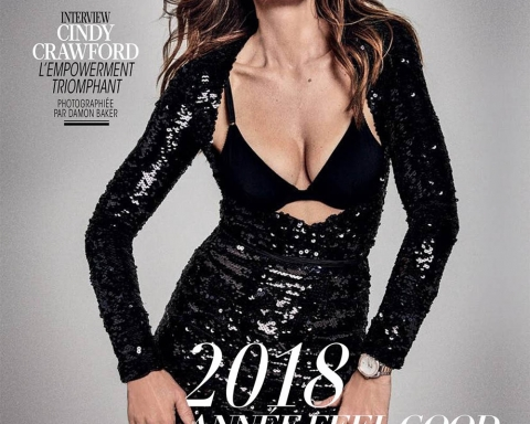 Cindy Crawford covers Madame Figaro December 29th, 2017 by Damon Baker