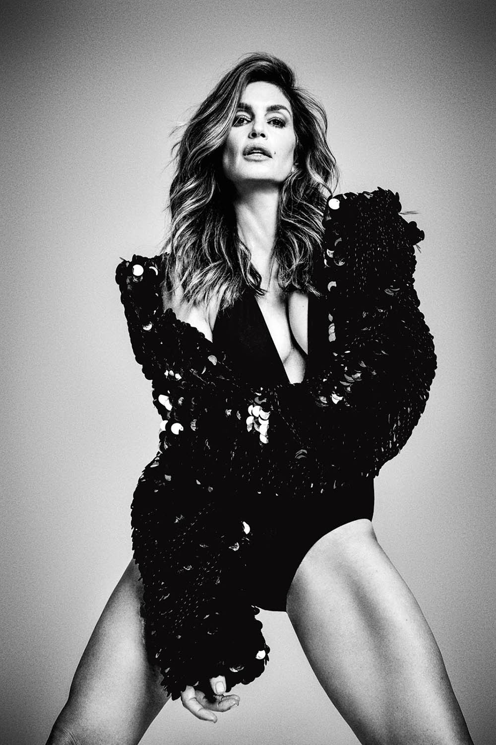cindy crawford covers madame figaro december 29th  2017 by damon baker