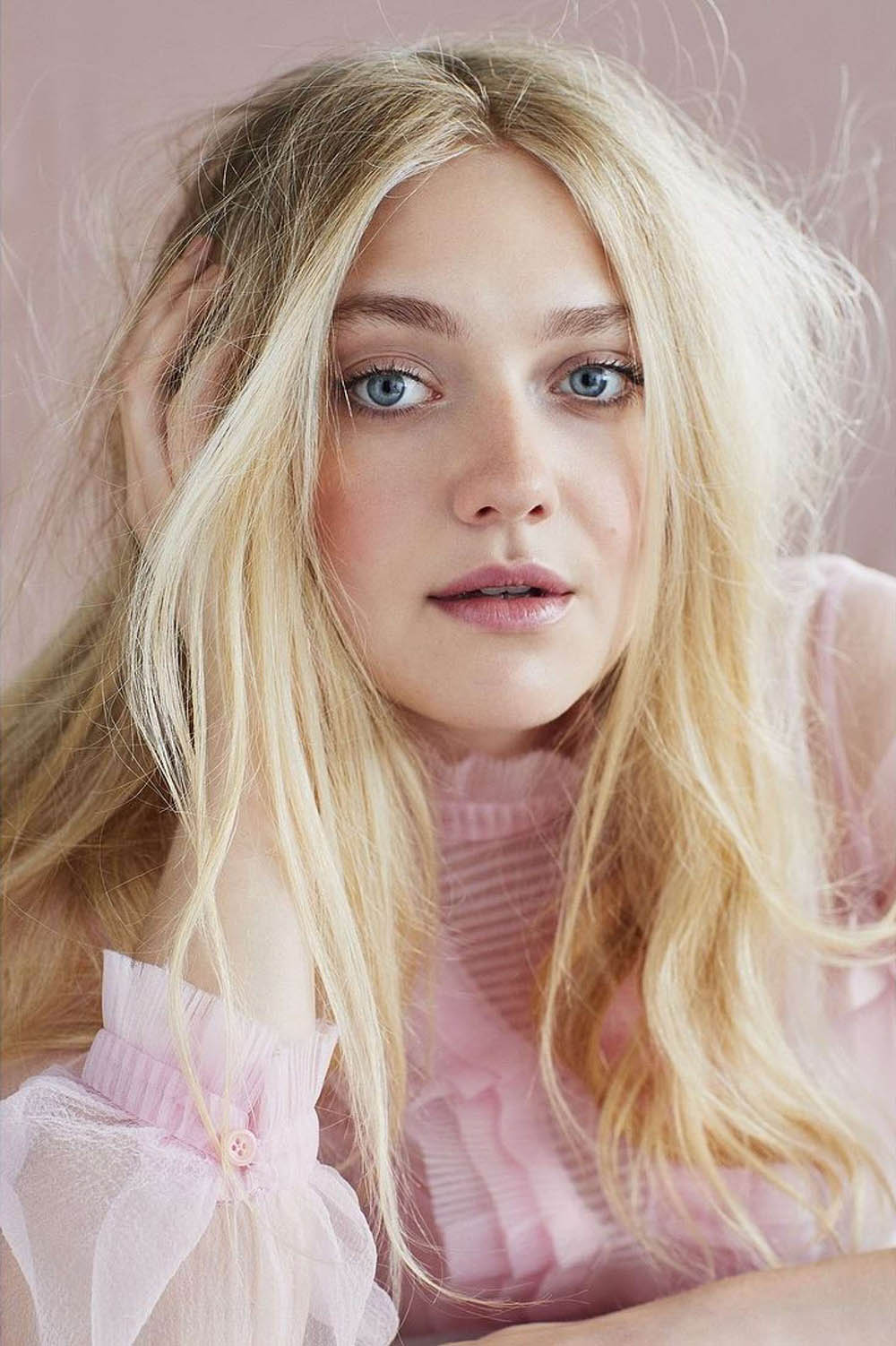 Dakota Fanning covers Marie Claire UK January 2018 by David Roemer