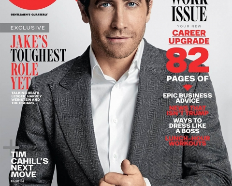 Jake Gyllenhaal covers GQ Australia February 2018 by Doug Inglish