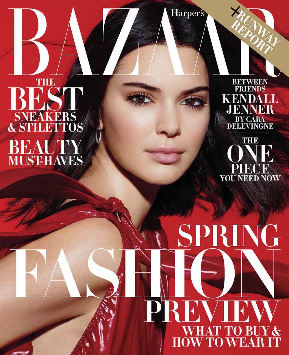 Kendall Jenner covers Harper's Bazaar US February 2018 by Sølve Sundsbø