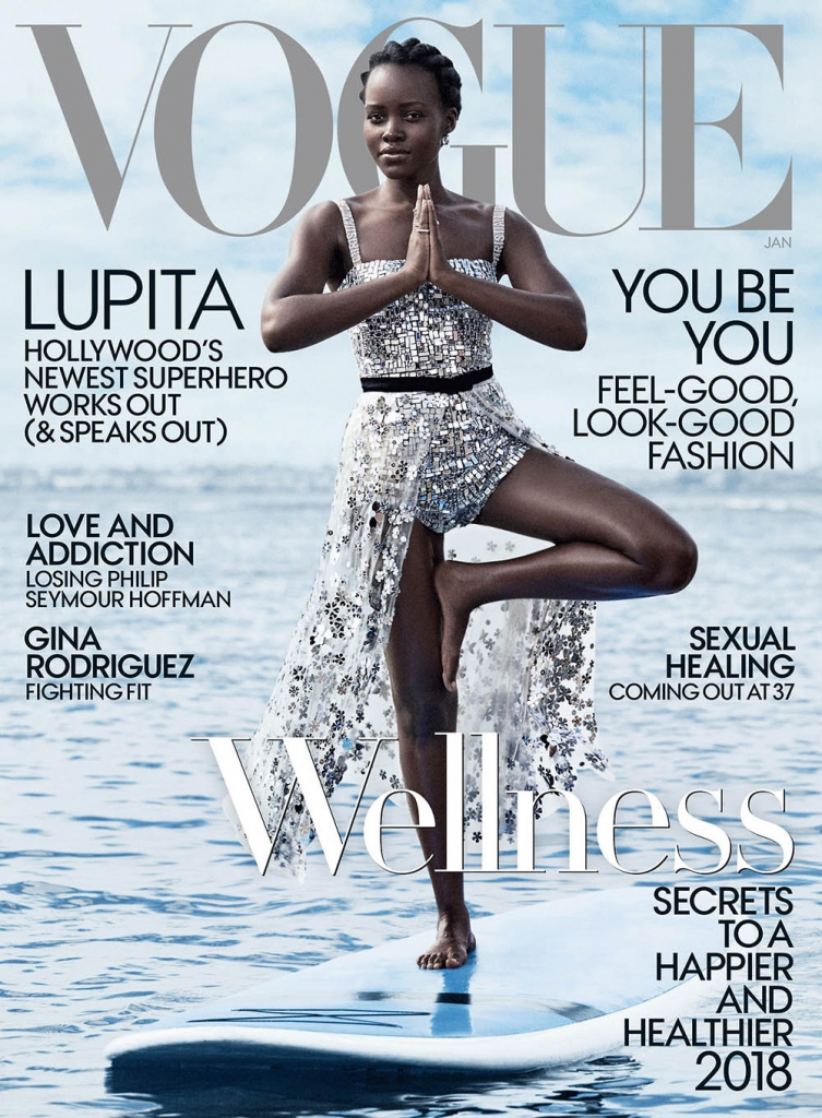 Lupita Nyong'o covers Vogue US January 2018 by Mikael Jansson