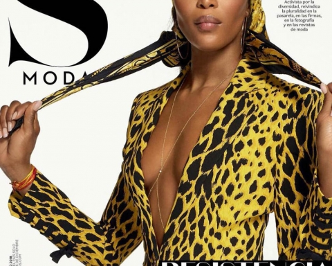 Naomi Campbell covers S Moda January 2018 by Cuneyt Akeroglu