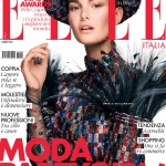 Ophelie Guillermand covers Elle Italia January 2018 by Alexei Hay