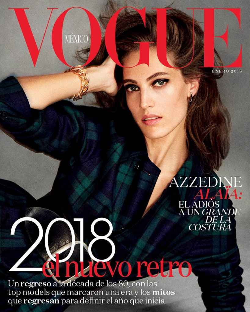 Othilia Simon covers Vogue Mexico January 2018 by Chris Colls