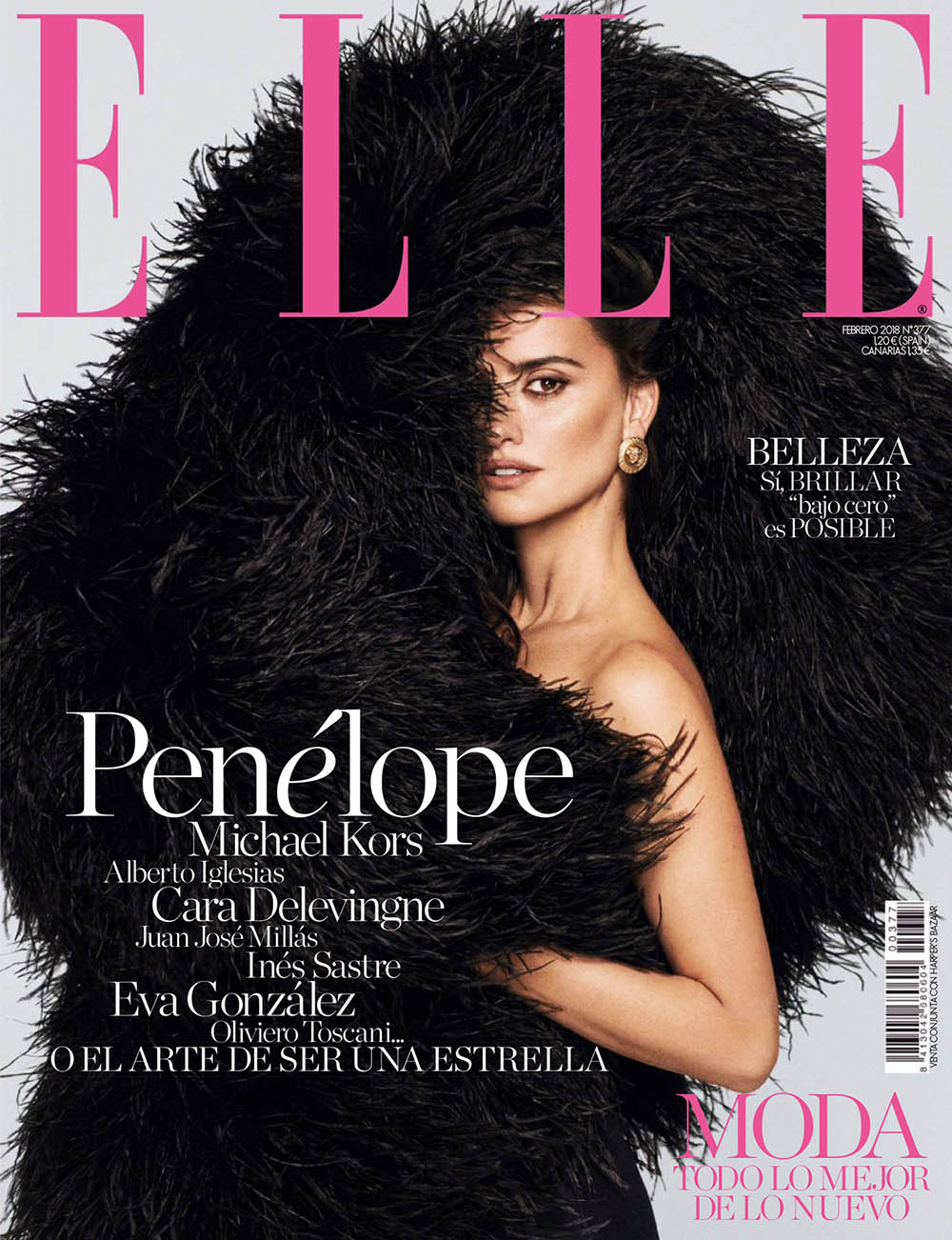 Penélope Cruz covers Elle Spain February 2018 by Xavi Gordo