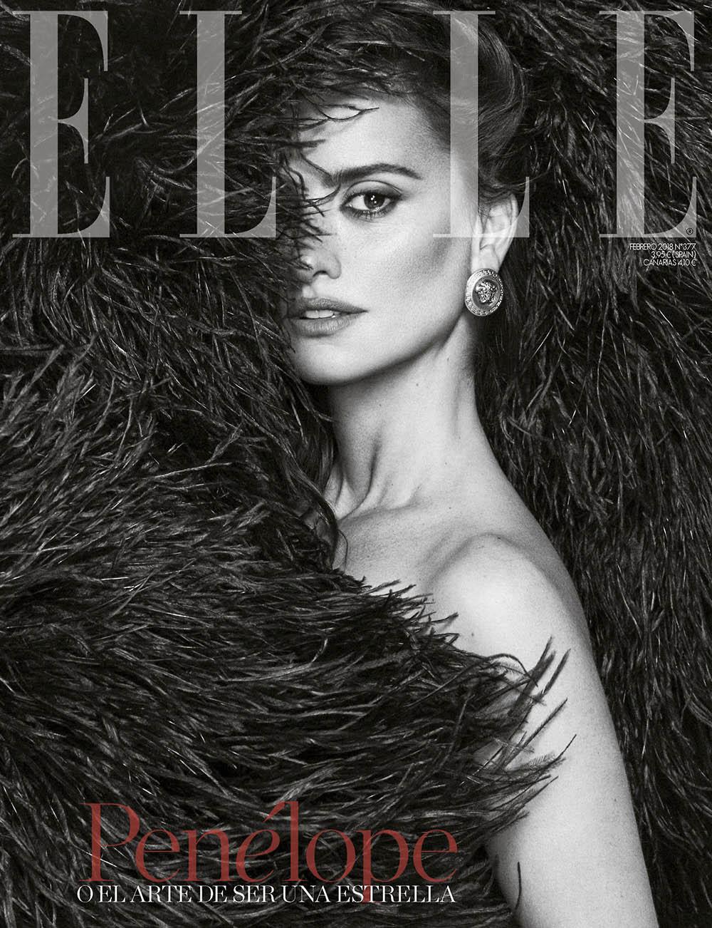 Penélope Cruz covers Elle Spain February 2018 by Xavi Gordo