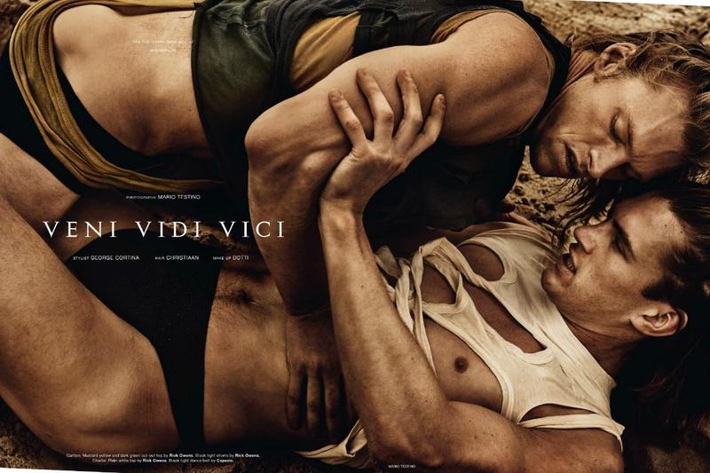 ''Veni Vidi Vici'' by Mario Testino for Man About Town Fall Winter 2017