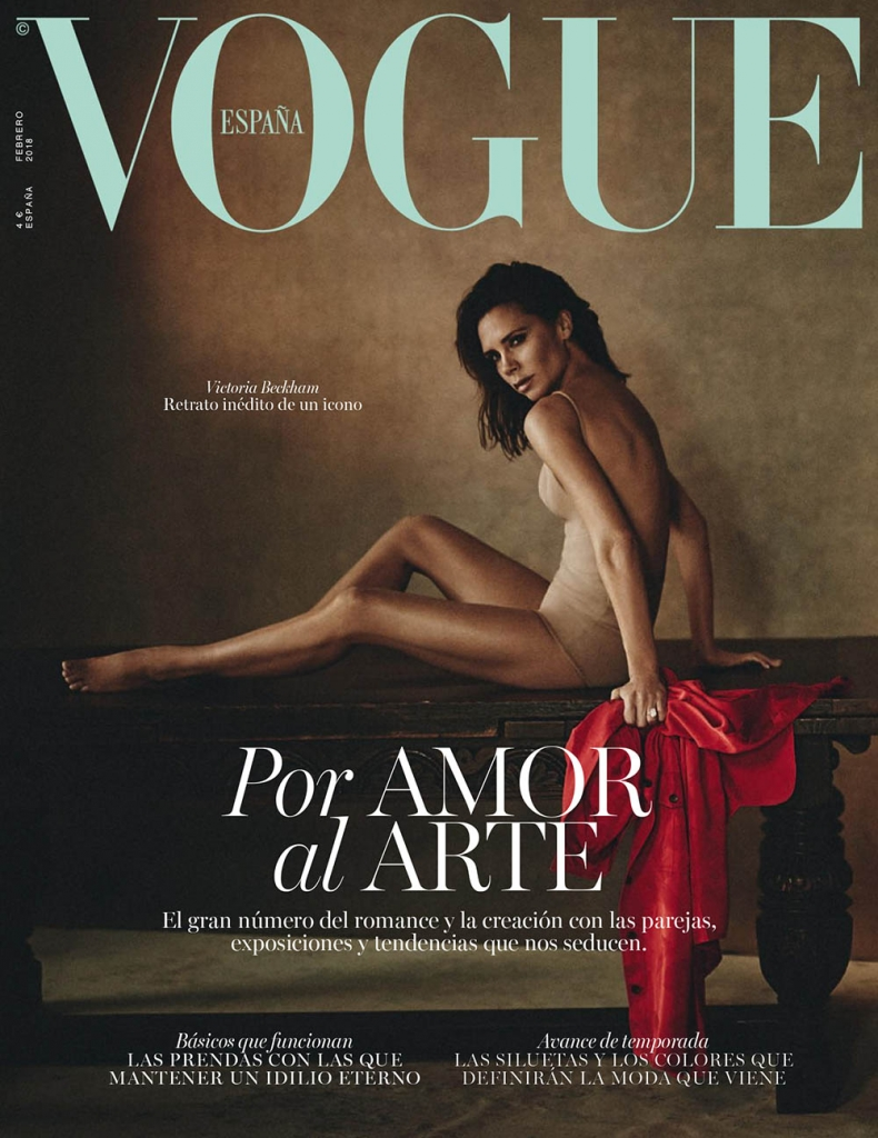 Victoria Beckham covers Vogue Spain February 2018 by Boo George