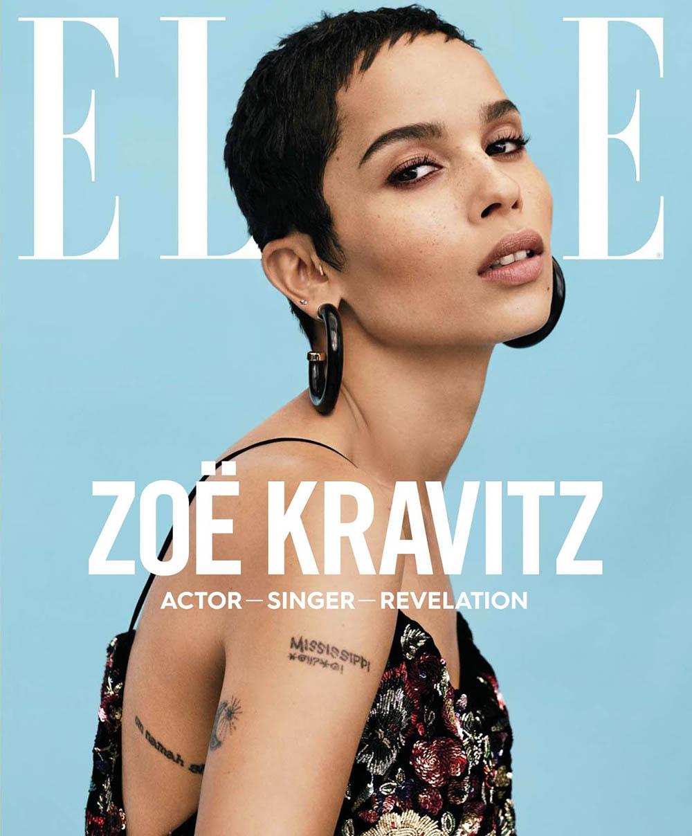 Zoe Kravitz covers Elle US January 2018 by Paola Kudacki