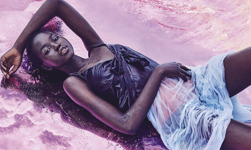 Adut Akech by Nicole Bentley for Vogue Australia March 2018
