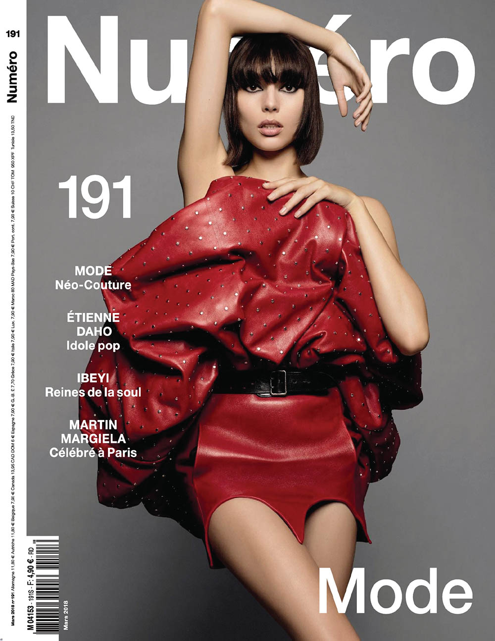 Charlee Fraser covers Numéro March 2018 by Jean-Baptiste Mondino