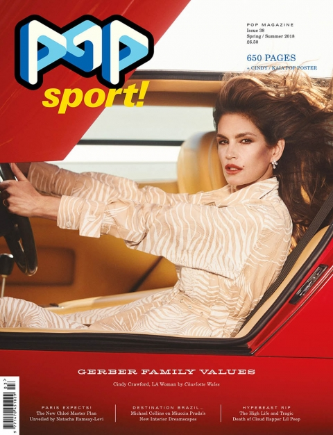 Cindy Crawford covers POP Magazine Spring Summer 2018 by Charlotte Wales