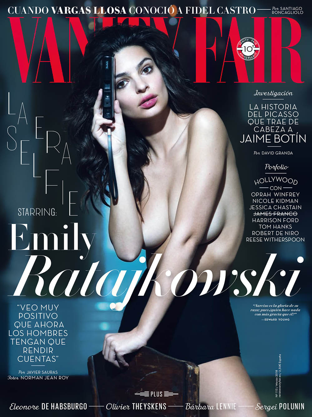 Emily Ratajkowski covers Vanity Fair Spain March 2018 by Norman Jean Roy