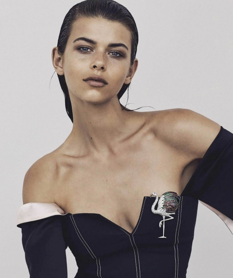 Georgia Fowler by Nicole Bentley for Vogue Australia April 2018