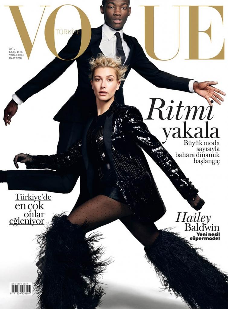 Hailey Baldwin and Valentine Rontez cover Vogue Turkey March 2018 by Liz Collins