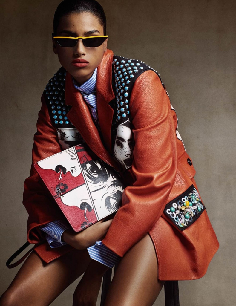 Imaan Hammam by Christian MacDonald for Vogue Paris March 2018