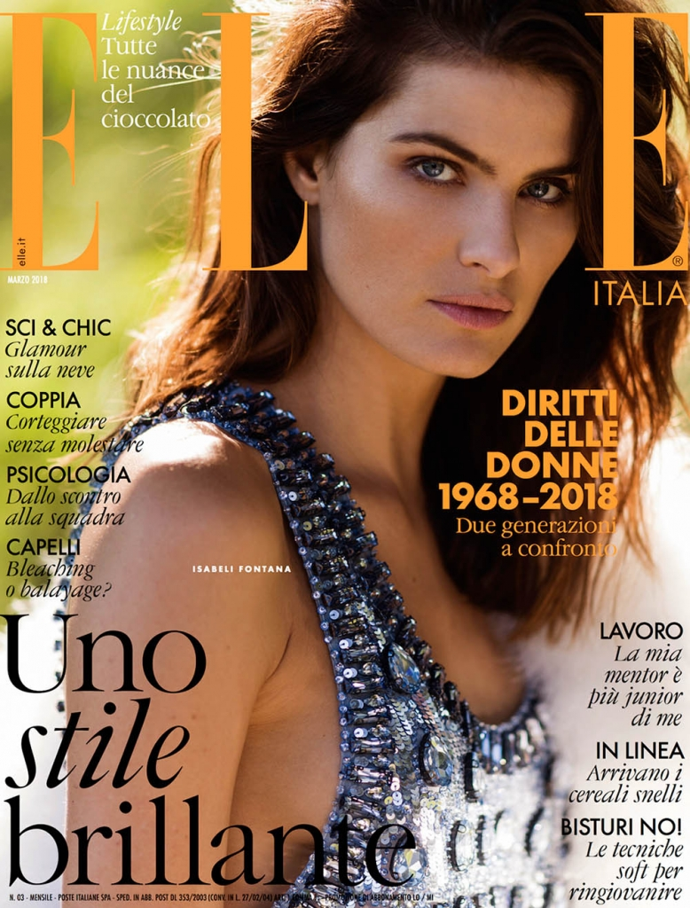 Isabeli Fontana covers Elle Italia March 2018 by Gilles Bensimon
