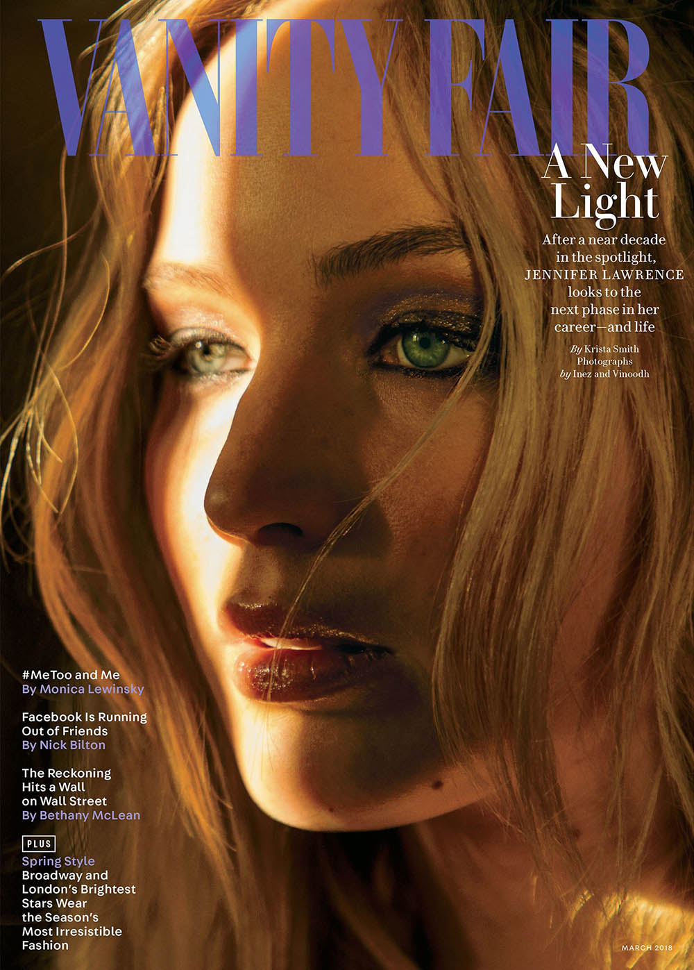 Jennifer Lawrence covers Vanity Fair March 2018 by Inez and Vinoodh