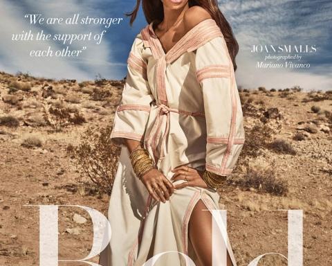 Joan Smalls covers Harper's Bazaar Arabia March 2018 by Mariano Vivanco