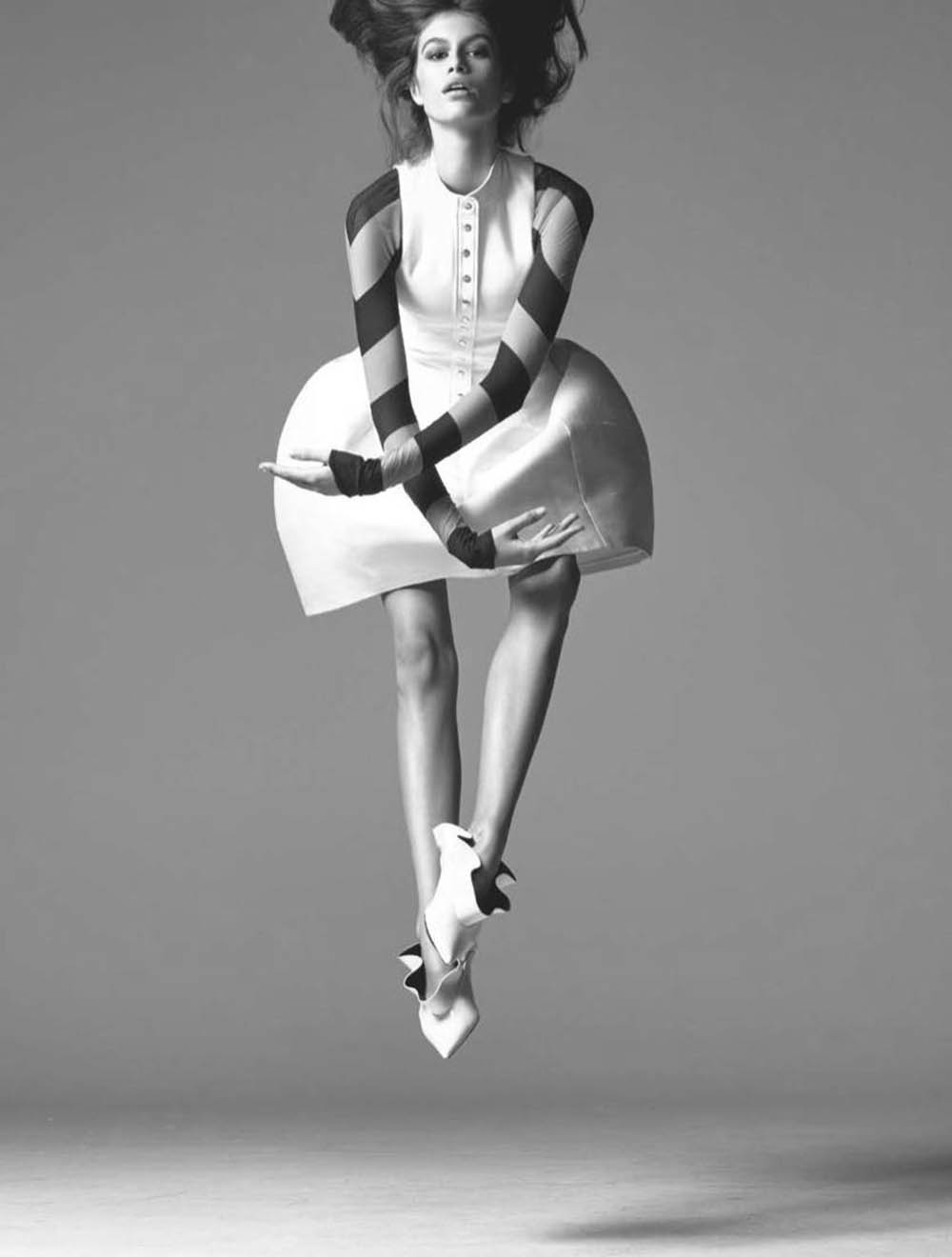 Kaia Gerber by Steven Meisel for British Vogue March 2018