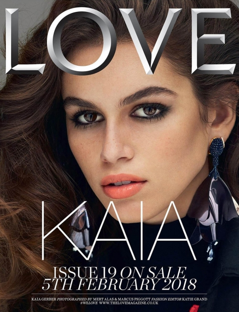 Kaia Gerber covers LOVE Magazine Spring Summer 2018 by Mert & Marcus