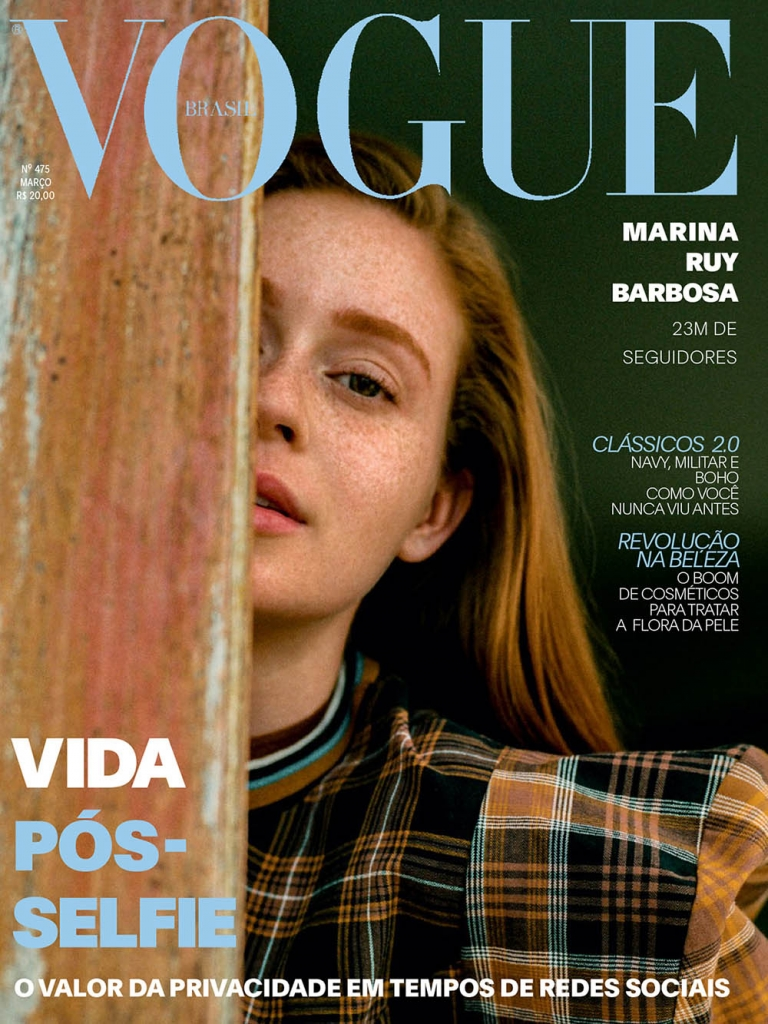 Marina Ruy Barbosa covers Vogue Brazil March 2018 by Zee Nunes