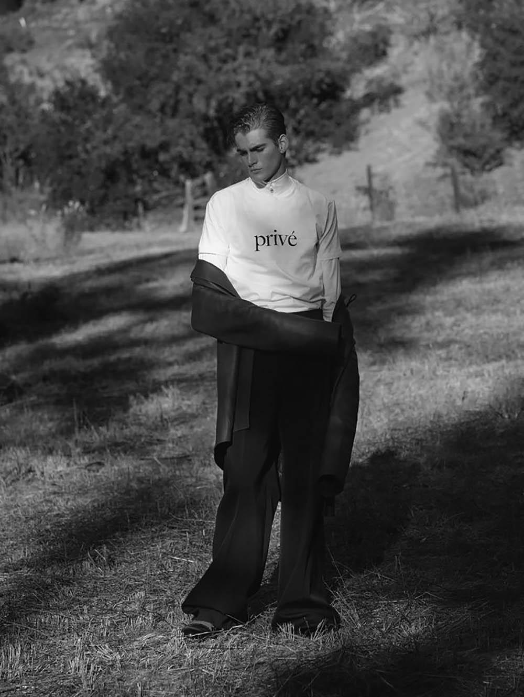 Presley Gerber covers L'Officiel Hommes Netherlands Spring Summer 2018 by Cameron McNee