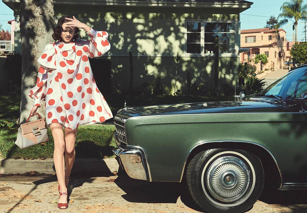 Sarah Brannon covers Harper's Bazaar Germany March 2018 by Regan Cameron