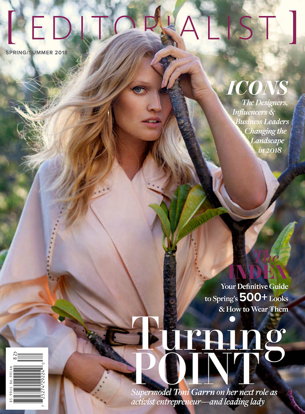 Toni Garrn covers Editorialist Spring Summer 2018 by Gilles Bensimon