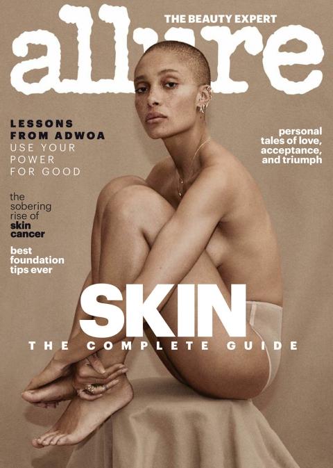 Adwoa Aboah covers Allure US April 2018 by Daniel Jackson