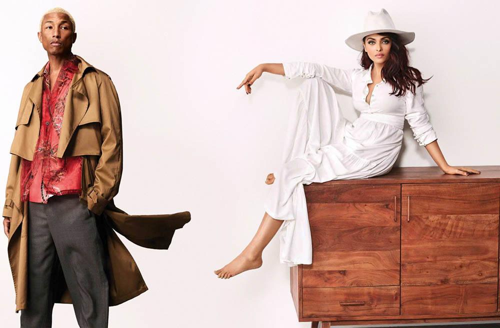 Aishwarya Rai Bachchan and Pharrell Williams cover Vogue India April 2018 by Greg Swales