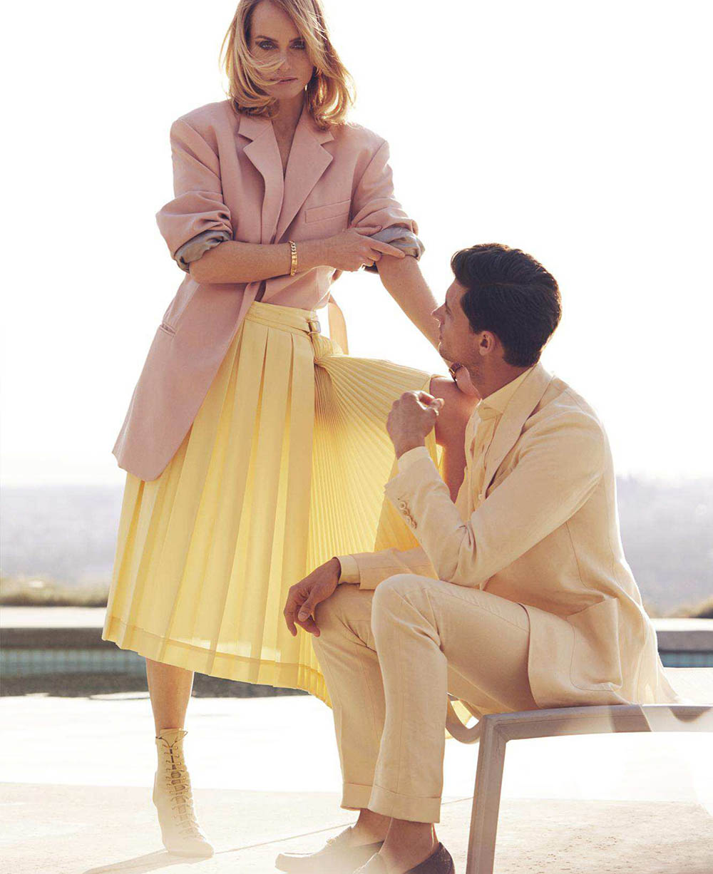 Amber Valletta and Garrett Neff by Alexi Lubomirski for Elle US April 2018