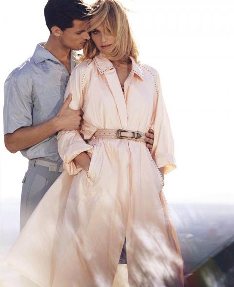 Amber Valletta and Garrett Neff by Alexi Lubomirski for Elle US April 2018