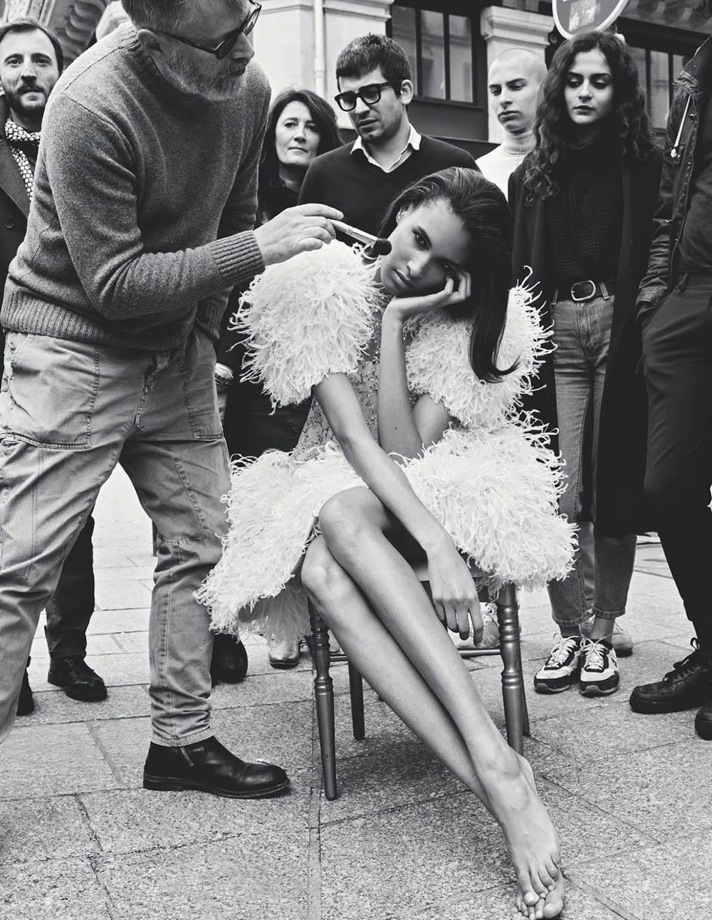Cindy Bruna by Pierre-Alban Hue de Fontenay for Elle Italia May 2018