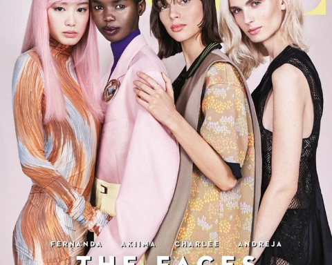 Fernanda Ly, Akiima, Charlee Fraser and Andreja Pejić cover Vogue Australia April 2018 by Patrick Demarchelier