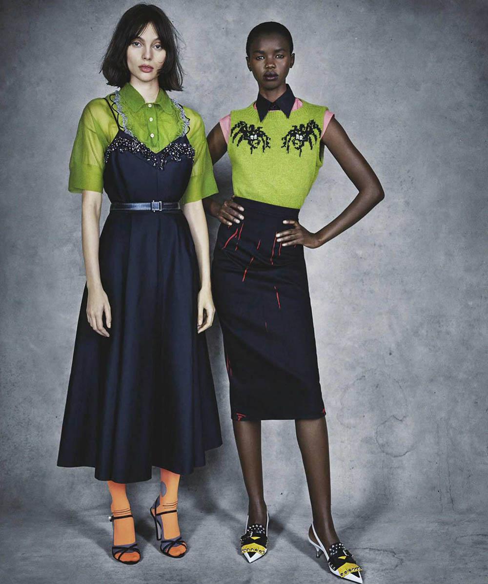 Fernanda Ly, Akiima, Charlee Fraser and Andreja Pejić cover Vogue Australia April 2018 by Patrick Demarchelier